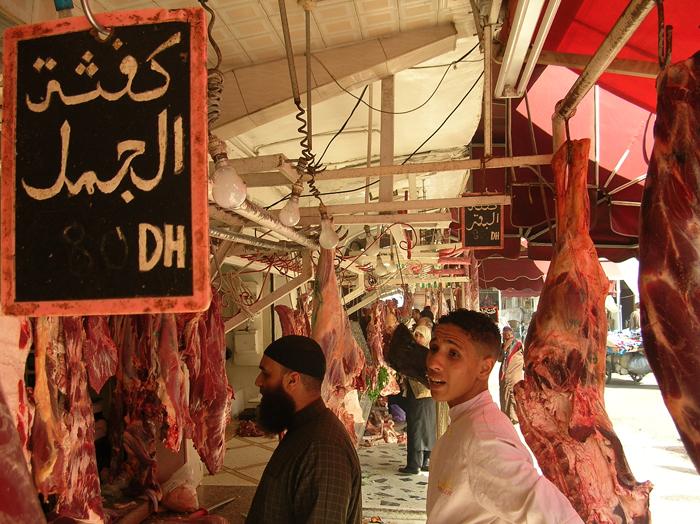 carnicería de camello