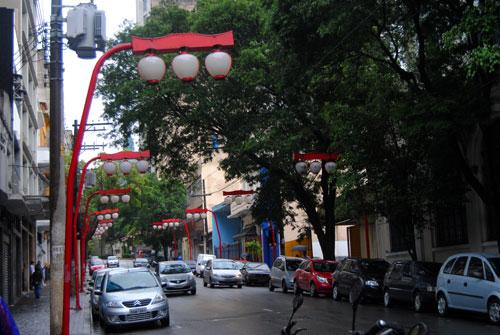 Farolas en Bairro da  Liberdade, Sao Paulo