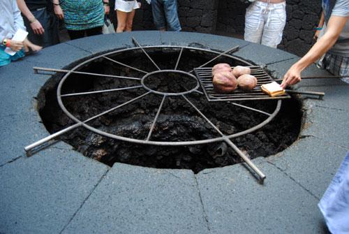 Cocinando con el fuego del volcán