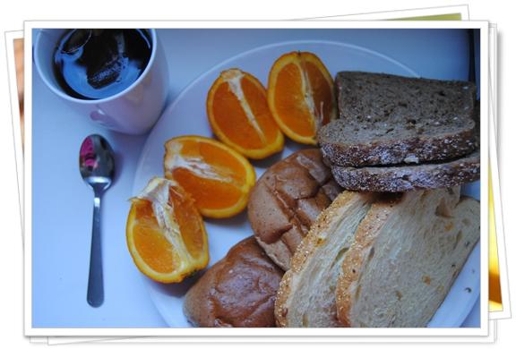 Nuestro desayuno en Amsterdam con productos de supermercado