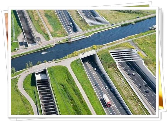 Carretera bajo el agua, Holanda