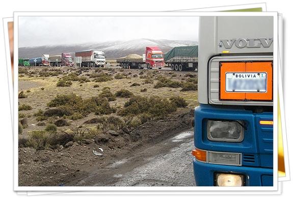 Camiones en Bolivia