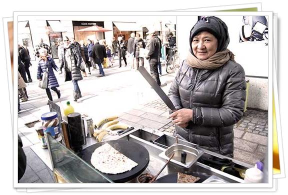 La vendedora de crepês