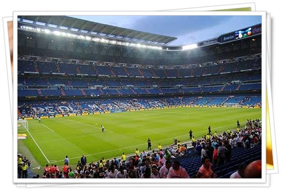 Impactante estadio Santiago Bernabéu