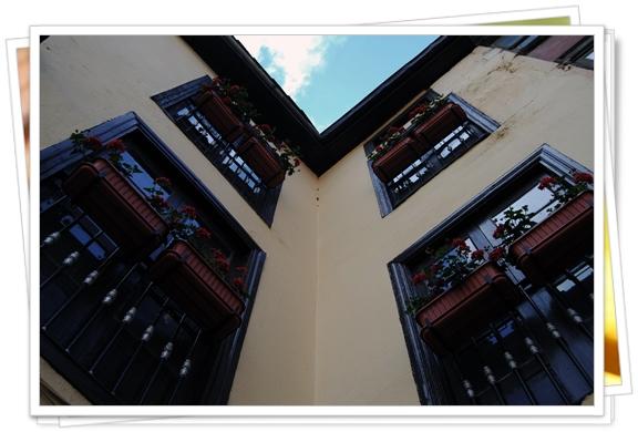Balcones floridos en Potes