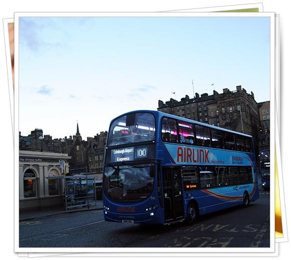Bus desde el aeropuerto al centro de Edimburgo