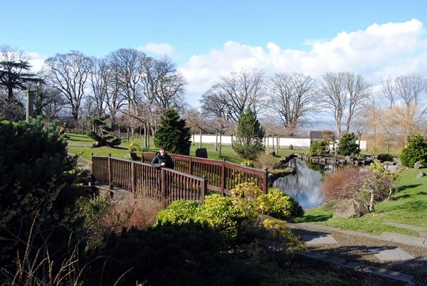 el jardín japonés en Edimburgo