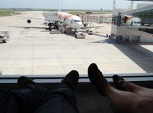 Esperando el avión