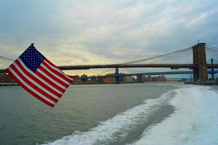 Cruzar el puente de Brooklyn