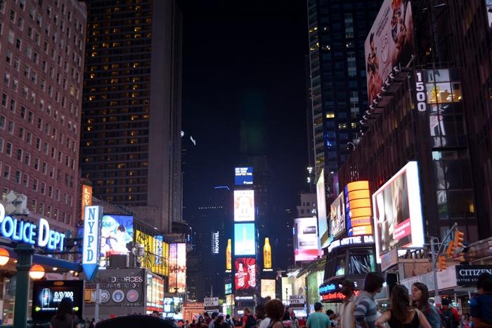 comer en Times Square