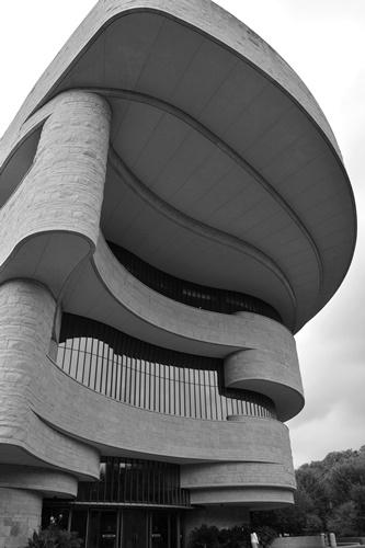 La arquitectura del museo es una de las cosas que más llama la atención