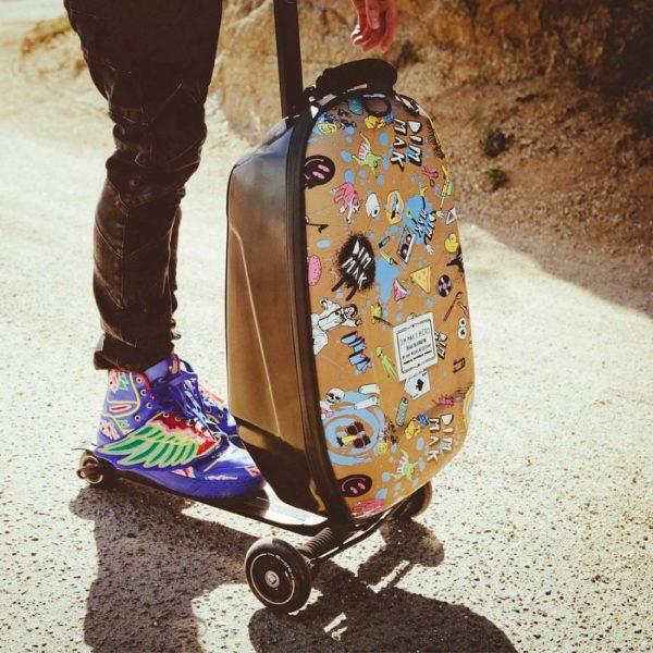 Transporte y maleta todo en uno