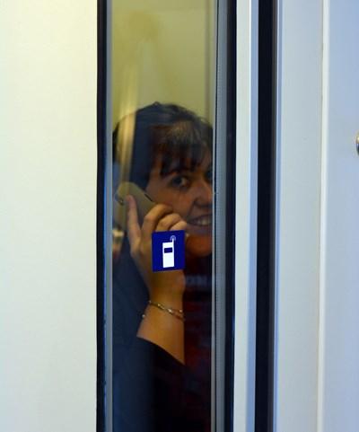 Cabinas insonorizadas para hablar por teléfono