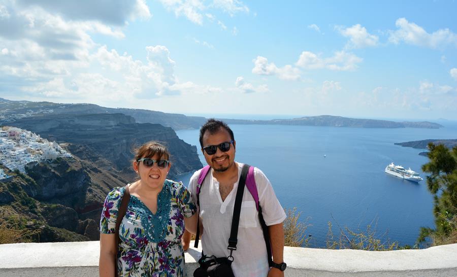 Viajar a Santorini