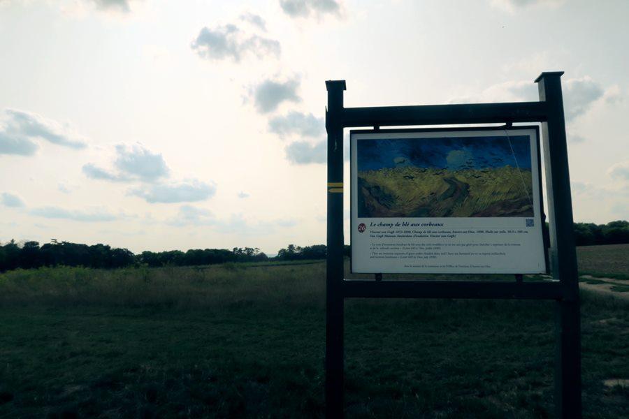 Visitar Auvers Sur Oise, el pueblo de Van Gigh - Cuadro de campo con cuervos