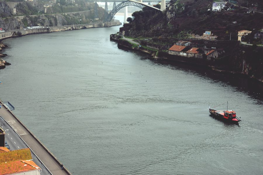Visitar Oporto - Barco en el río