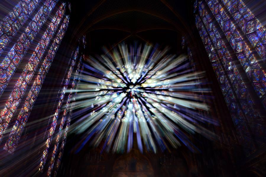 Visitar la Sainte-Chapelle de París - Rosetón