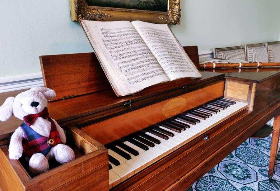 Visitar la Casa Georgiana de Edimburgo - Piano