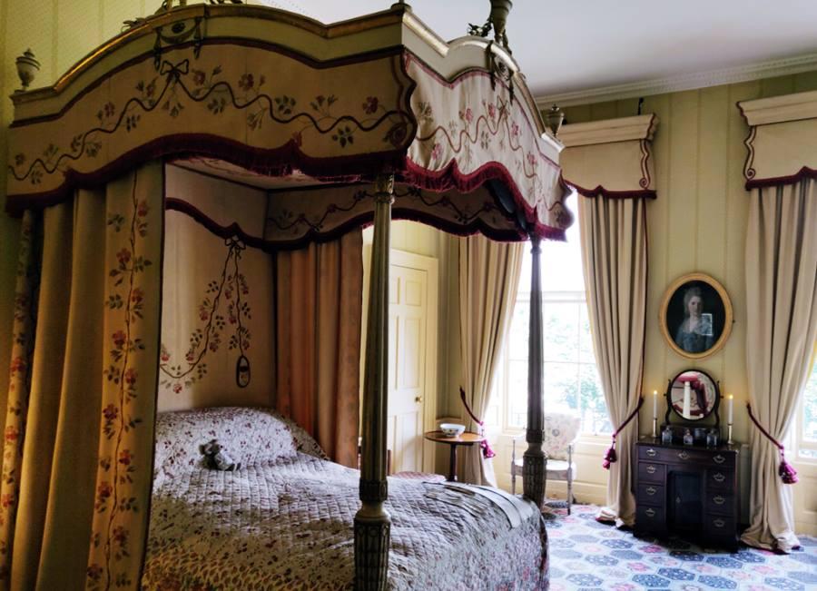 Visitar la Casa Georgiana de Edimburgo - Cama principal