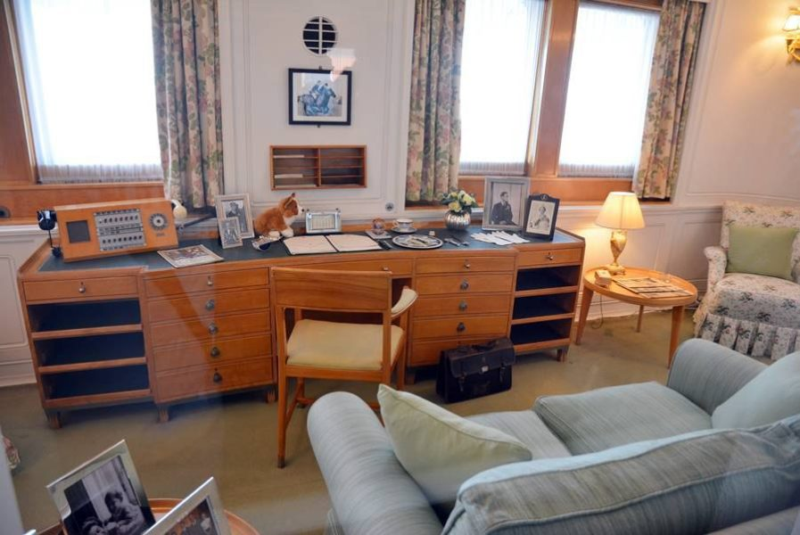 Visitar el Barco Britannia en Edimburgo, oficina de la reina